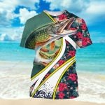Fishing Floral Summer Vacation ALL OVER PRINTED SHIRT HH0711103