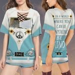 Hippie Campervan In a world where you can be anything be kind RV ALL OVER PRINTED SHIRT H07176100