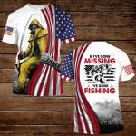 Fishing If I go missing I've gone Fishing Flag ALL OVER PRINTED SHIRT H07176108