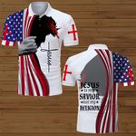 Jesus is my Savior not my religion American Flag ALL OVER PRINTED SHIRTS DH071801