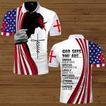 God says you are Strong Chosen American Flag Jesus ALL OVER PRINTED SHIRTS DH072304