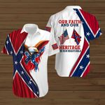 Confederate States of America Flag Our faith and our heritage are non negotiables ALL OVER PRINTED SHIRTS hoodie 3d 0721672