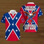 Southern Pride Heritage Not hate Confederate states of America flag  ALL OVER PRINTED SHIRTS DH072001