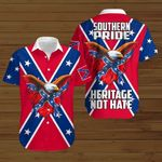 Southern Pride Heritage Not hate Confederate states of America flag  ALL OVER PRINTED SHIRTS DH072103