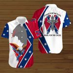 Stand for the Flag Kneel for the Cross Jesus Confederate states of America flag  ALL OVER PRINTED SHIRTS DH072102