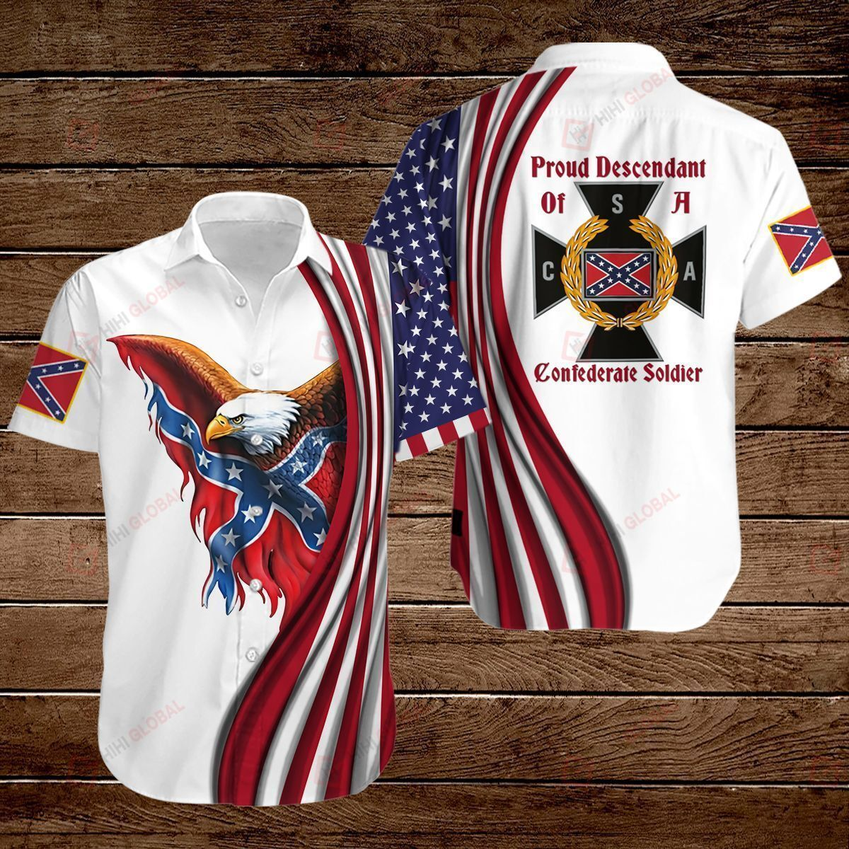 Confederate States of America Flag Proud Descendant of a Confederate Soldier ALL OVER PRINTED SHIRTS hoodie 3d 0718666