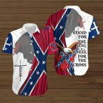 Stand for the Flag Kneel for the Cross Jesus Confederate states of America flag  ALL OVER PRINTED SHIRTS DH072101