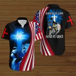 Biker Justified by Faith saved by Grace ALL OVER PRINTED SHIRTS hoodie 3d 0727671