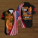 I can do all things through Christ who strengthens me American Flag ALL OVER PRINTED SHIRTS DH072804