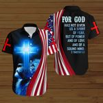 For God has not given us a spirit of fear American Flag blue lion ALL OVER PRINTED SHIRTS DH072801