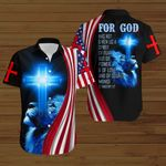 For God has not given us a spirit of fear American Flag blue lion ALL OVER PRINTED SHIRTS DH072803