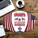 U.S. Veterans I'm a Veteran Grandpa ALL OVER PRINTED a1 3d 0722672