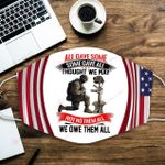 U.S. Veterans All gave some Some gave all Not no them all we owe them all ALL OVER PRINTED a1 3d 0724671