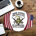 U.S. Veterans Born raised and protected by god guns guts and glory ALL OVER PRINTED a1 3d 0724672