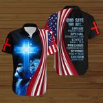 God says you are unique American Flag blue lion ALL OVER PRINTED SHIRTS DH072901