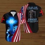 I can do all things through Christ who strengthens me Knight American Flag blue lion ALL OVER PRINTED SHIRTS DH072904