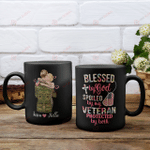 U.S. Veterans Blessed by God Spoiled by my Veteran protected by both