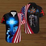 Jesus is my Savior knight American Flag blue lion ALL OVER PRINTED SHIRTS DH073002