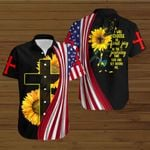 I will choose to find joy in the journey that God has set before me American Flag sunflower ALL OVER PRINTED SHIRTS DH073005