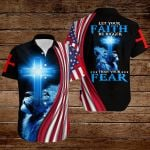 Let your faith be bigger than your fear American Flag blue lion ALL OVER PRINTED SHIRTS DH073101