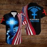 Connect to God and the password is Prayer American Flag blue lion ALL OVER PRINTED SHIRTS DH073104