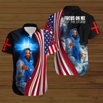 Focus on me not the storm American Flag Jesus ALL OVER PRINTED SHIRTS DH073102