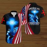 American by birth Christian by the grace of God  American Flag blue lion ALL OVER PRINTED SHIRTS DH080102