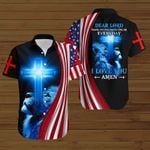 Dear Lord Thank you for protecting me everyday I love you Amen American Flag blue lion ALL OVER PRINTED SHIRTS DH080103