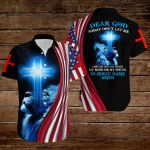 Dear Lord Today don't let me lose my joy my peace my mind or my focus In Jesus' name Amen American flag blue lion ALL OVER PRINTED SHIRTS DH080107