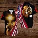 I'm no longer a slave to fear I am a child of God  American Flag yellow lion ALL OVER PRINTED SHIRTS DH080109