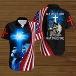 Biker Let your faith be bigger than your fear God Jesus ALL OVER PRINTED SHIRTS hoodie 3d 0803668