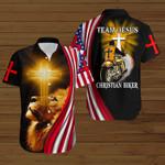 Team Jesus Christian biker American Flag yellow lion ALL OVER PRINTED SHIRTS DH080703