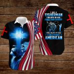 I am a fisherman I believe in God family and country I am a proud American Flag blue lion ALL OVER PRINTED SHIRTS DH0811102