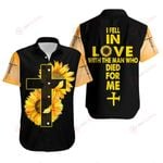 I fell in love with the man who died for me sunflower cross Jeuss Christ ALL OVER PRINTED SHIRTS DH0811104