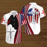 One Nation under God American Flag Jesus ALL OVER PRINTED SHIRTS DH081303