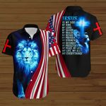 Jesus is my everything American Flag blue lion ALL OVER PRINTED SHIRTS DH081301