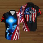 One Nation under God American Flag blue lion ALL OVER PRINTED SHIRTS DH081304