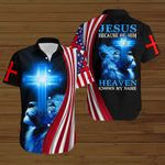 Jesus Because of Him Heaven knows my name American Flag blue lion  ALL OVER PRINTED SHIRTS DH081405