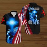 God heals me loves me forgives me American Flag blue lion  ALL OVER PRINTED SHIRTS DH081403