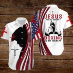 Jesus is my Savior Boxing is my therapy ALL OVER PRINTED SHIRTS hoodie 3d 0814889