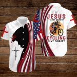 Jesus is my Savior Cycling is my therapy ALL OVER PRINTED SHIRTS hoodie 3d 0814890
