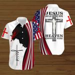 Jesus because of him heaven knows my name American Flag Jesus Christ ALL OVER PRINTED SHIRTS DH081701