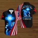Never lose hope just when you think it's over God sends you a miracle American Flag blue lion ALL OVER PRINTED SHIRTS DH081705