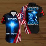 I may not be perfect but Jesus thinks I'm to die for American Flag blue lion ALL OVER PRINTED SHIRTS DH081804