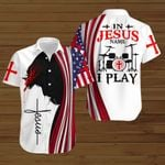 In Jesus name I play American Flag  ALL OVER PRINTED SHIRTS DH081802
