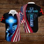 God knew my heart needed love He sent me my husband American Flag blue lion ALL OVER PRINTED SHIRTS DH081806