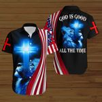 God is good all the time American Flag blue lion ALL OVER PRINTED SHIRTS DH081803