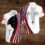 When life is not a bed of roses remember who wore the thorns American Flag Jesus Christ ALL OVER PRINTED SHIRTS DH081805