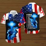 Jesus is my God my King my Lord my Savior my everything American Flag blue lion ALL OVER PRINTED SHIRTS DH081901