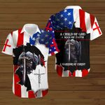 A Child of God a man of faith a warrior of Christ American Flag Jesus knight ALL OVER PRINTED SHIRTS DH081903